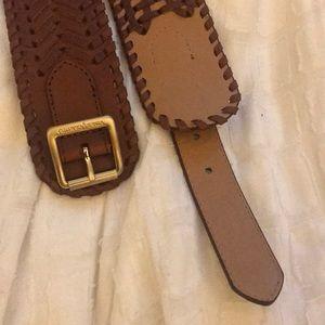 Leather Vince Camuto waist belt